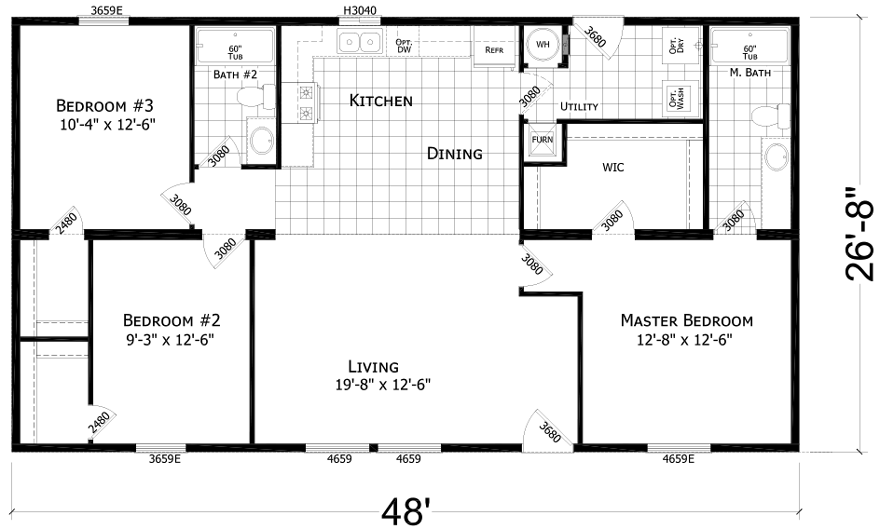 Selway 27 X 48 1280 Sqft Mobile Home Factory Expo Centers. 27 X 48 Double Wide Hud Mobile Home Factory Advantage Multisection Series Economy Priced Homes. Wiring. Park Mobile Home Plumbing Diagram At Scoala.co